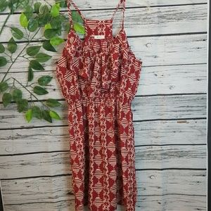 Anthropologie Everly vneck ruffled flowy dress Sm